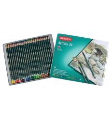 Набор цветных карандашей Derwent Artists 24 цвета, в металлической коробке