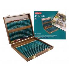 Набор цветных карандашей Derwent Artists 48 цветов, в деревянной коробке