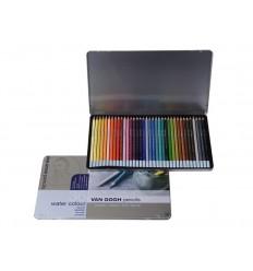Набор цветных акварельных карандашей VAN GOGH 36 цветов, в металлической коробке