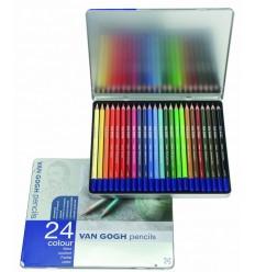 Набор цветных карандашей VAN GOGH 24 цвета, в металлической коробке