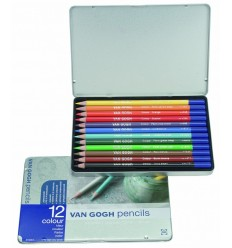Набор цветных карандашей VAN GOGH 12 цветов, в металлической коробке