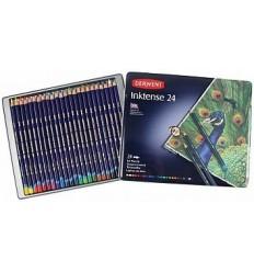Набор цветных акварельных карандашей DERWENT INKTENSE, 24 цвета в метал. коробке