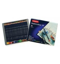 Набор цветных акварельных карандашей DERWENT WATERCOLOUR, 24 цвета в метал. коробке