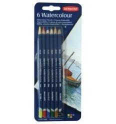 Набор цветных акварельных карандашей DERWENT WATERCOLOUR, 6 цветов в блистере
