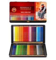 Набор акварельных цветных карандашей Koh-I-Noor MONDELUZ 3727, металлическая коробка, 72 цвета