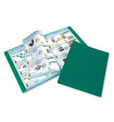 Папка файловая Attache А4 на 20 файлов, зеленая