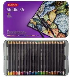 Набор цветных карандашей Derwent Studio 36 цвета, в металлической коробке