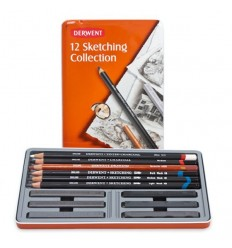 Набор профессиональных карандашей DERWENT SKETCHING COLLECTION, 12 карандашей, в металлической коробке