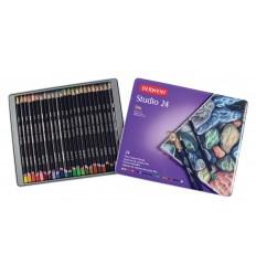 Набор цветных карандашей Derwent Studio 24 цвета, в металлической коробке