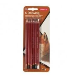 Набор цветных карандашей Derwent DRAWING 6 цветов, в блистере