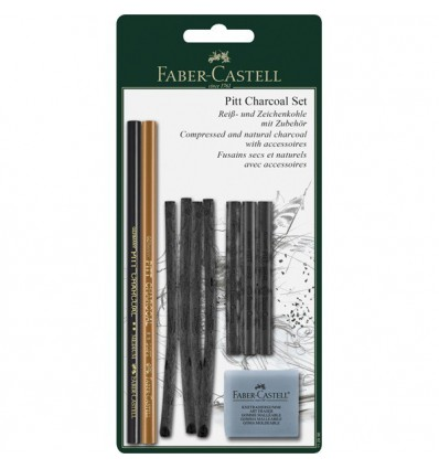 Набор угля для рисования FABER-CASTELL Pitt Charcoal Set, 10 предметов, в блистере