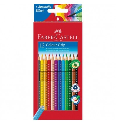 Набор цветных трехгранных карандашей FABER-CASTELL GRIP 2001, 12 цветов