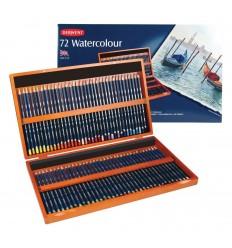Набор цветных акварельных карандашей DERWENT WATERCOLOUR, 72 цвета в деревянной коробке