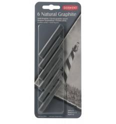 Набор натурального графита DERWENT 6шт (мягкие, средние, твёрдые)