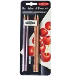 Набор карандашей DERWENT для смешивания цветов и полировки, 4шт, ластик и точилка
