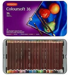 Набор цветных карандашей Derwent COLOURSOFT 36 цветов, в металлической коробке