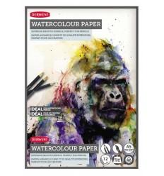 Альбом для акварельных карандашей DERWENT Watercolour Pads, А4, 300гр, 12л склейка