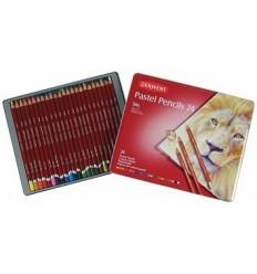 Набор пастельные цветных карандашей DERWENT PASTE, 24 цвета в металлической коробкеL