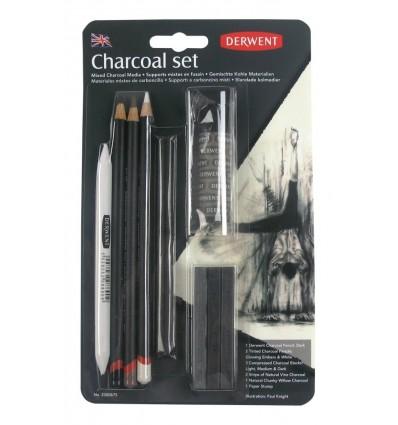 Набор угольных карандашей DERWENT CHARCOAL, 10 предметов в блистере