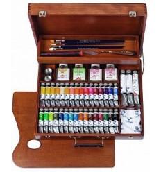 Набор масляных красок Royal Talens VAN GOGH Максимальный - 34 цвета по 20мл в деревянном чемоданчике
