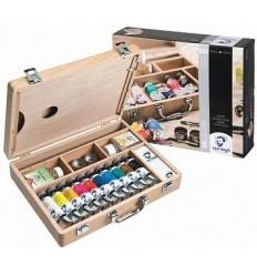 Набор масляных красок Royal Talens VAN GOGH Базовый - 10 цветов по 40мл в деревянной коробке