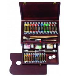 Набор масляных красок Royal Talens REMBRANDT Мастер - 38 цветов в тубах (24 по 15мл, 12 по 40мл, 2 по 60мл), деревянный короб
