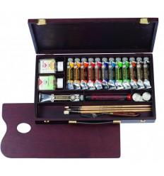 Набор масляных красок Royal Talens REMBRANDT Профессионал - 13 цветов в тубах (12 по 40мл, 1 по 60мл), деревянный короб