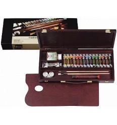 Набор масляных красок Royal Talens REMBRANDT Традиционный - 16 цветов в тубах (15 по 15мл, 1 по 40мл), деревянный короб