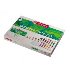 Гуашь в тюбиках ArtCreation ROYAL TALENS, 12 цветов по 12 мл., альбом, 2 кисти, ластик-клячка, палитраи карандаш