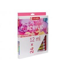 Акриловые краски в тюбиках ArtCreation ROYAL TALENS, 24 цвета по 12 мл