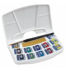 Акварельные краски в кюветах Van Gogh ROYAL TALENS, 12 цветов, пластиковый короб