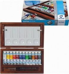 Акварельные краски в тюбиках Van Gogh ROYAL TALENS, 12 цветов, деревянный короб