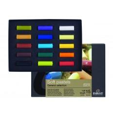 Набор сухой пастели REMBRANDT ROYAL TALENS Стартовый - 15 основных цветов, 1/2 стандартного мелка