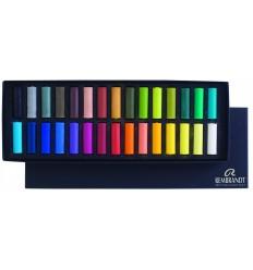Набор сухой пастели REMBRANDT ROYAL TALENS Базовый - 30 основных цветов, 1/2 стандартного мелка