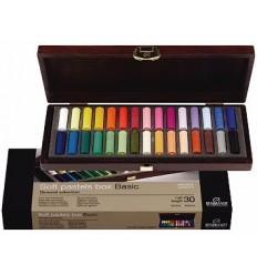 Набор сухой пастели REMBRANDT ROYAL TALENS Базовый - 30 основных цветов, 1/2 стандартного мелка, деревянный короб