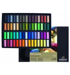 Набор сухой пастели REMBRANDT ROYAL TALENS Люкс - 60 основных цветов, 1/2 стандартного мелка
