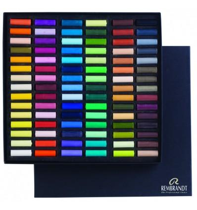 Набор сухой пастели REMBRANDT ROYAL TALENS Профессиональный - 90 основных цветов, 1/2 стандартного мелка