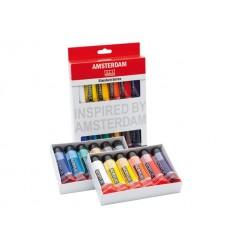 Акриловые краски в тюбиках AMSTERDAM ROYAL TALENS Стандарт, 12 цвета по 20мл
