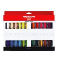 Акриловые краски в тюбиках AMSTERDAM ROYAL TALENS Стандарт, 24 цвета по 20мл