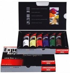 Акриловые краски в тюбиках AMSTERDAM Expert  ROYAL TALENS, 6 цветов по 20мл