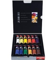 Акриловые краски в тюбиках AMSTERDAM Expert  ROYAL TALENS, 12 цветов по 20мл