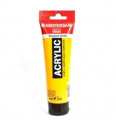 Акриловая краска AMSTERDAM ROYAL TALENS туба 120мл, цвет №270 Жёлтый темный AZO