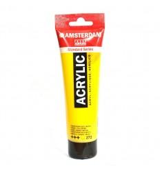 Акриловая краска AMSTERDAM ROYAL TALENS туба 120мл, цвет №272 Жёлтый средний прозрачный