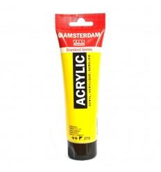 Акриловая краска AMSTERDAM ROYAL TALENS туба 120мл, цвет №275 Жёлтый основной