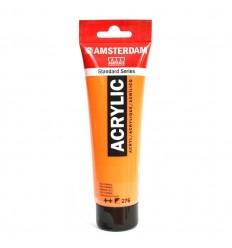 Акриловая краска AMSTERDAM ROYAL TALENS туба 120мл, цвет №276 Оранжевый AZO