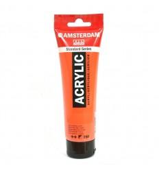 Акриловая краска AMSTERDAM ROYAL TALENS туба 120мл, цвет №398 Красный нафтоловый светлый