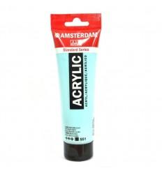 Акриловая краска AMSTERDAM ROYAL TALENS туба 120мл, цвет №551 Небесно-голубой светлый