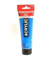 Акриловая краска AMSTERDAM ROYAL TALENS туба 120мл, цвет №572 Циан основной