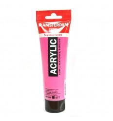 Акриловая краска AMSTERDAM ROYAL TALENS туба 120мл, цвет №577 Красно-фиолетовый светлый устойчивый
