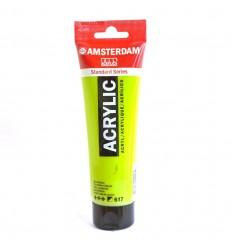 Акриловая краска AMSTERDAM ROYAL TALENS туба 120мл, цвет №617 Зеленый желтоватый